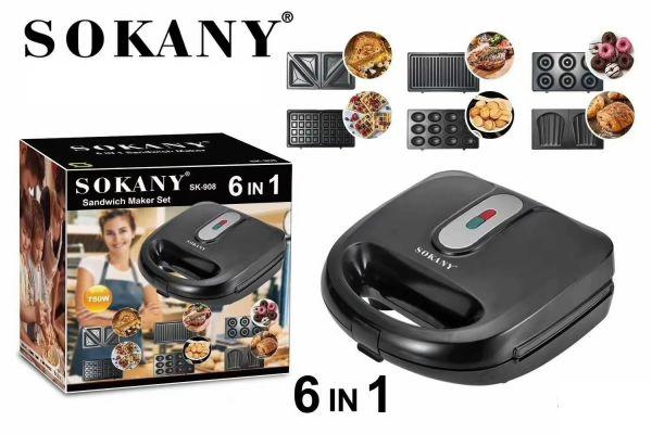 მულტიფუნქციური საცხობი Sokany SK-908 6 in 1